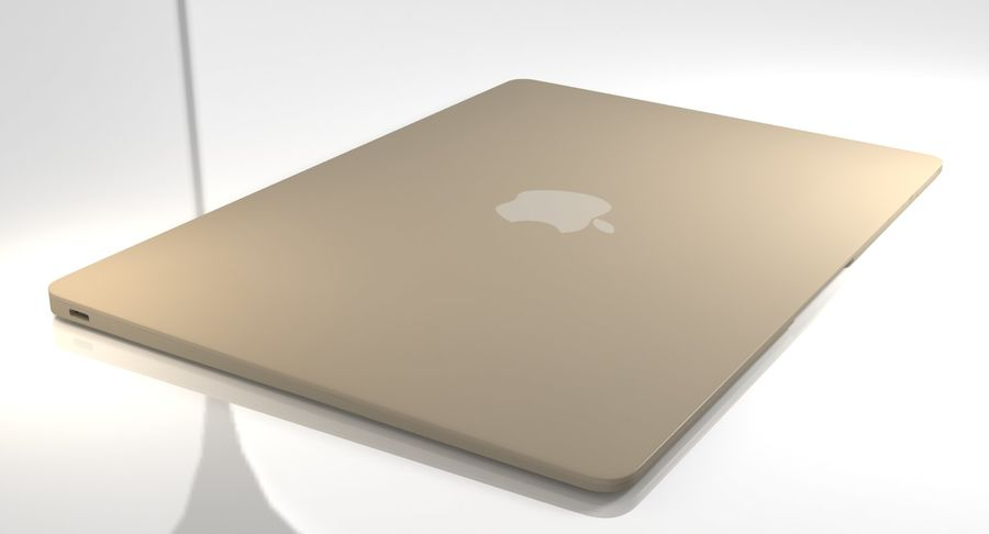 Apple MacBook 2015 royalty-free 3d model - Preview no. 18
