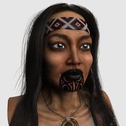 maoryska głowa dziewczyny 3d model