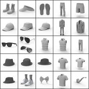 Mans Clothing Collection 3d model