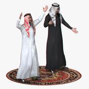 Árabe en tiempo real aparejado modelo 3d
