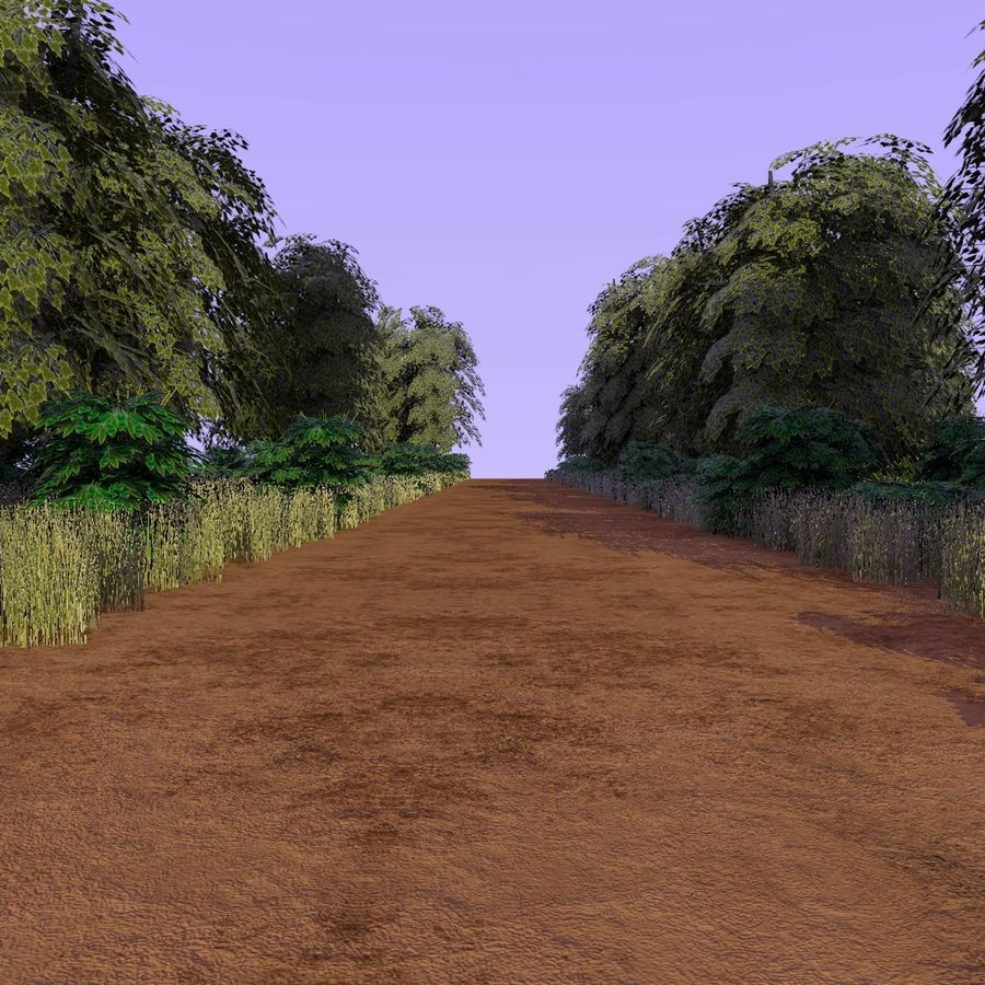 Skogsväg 2 royalty-free 3d model - Preview no. 1