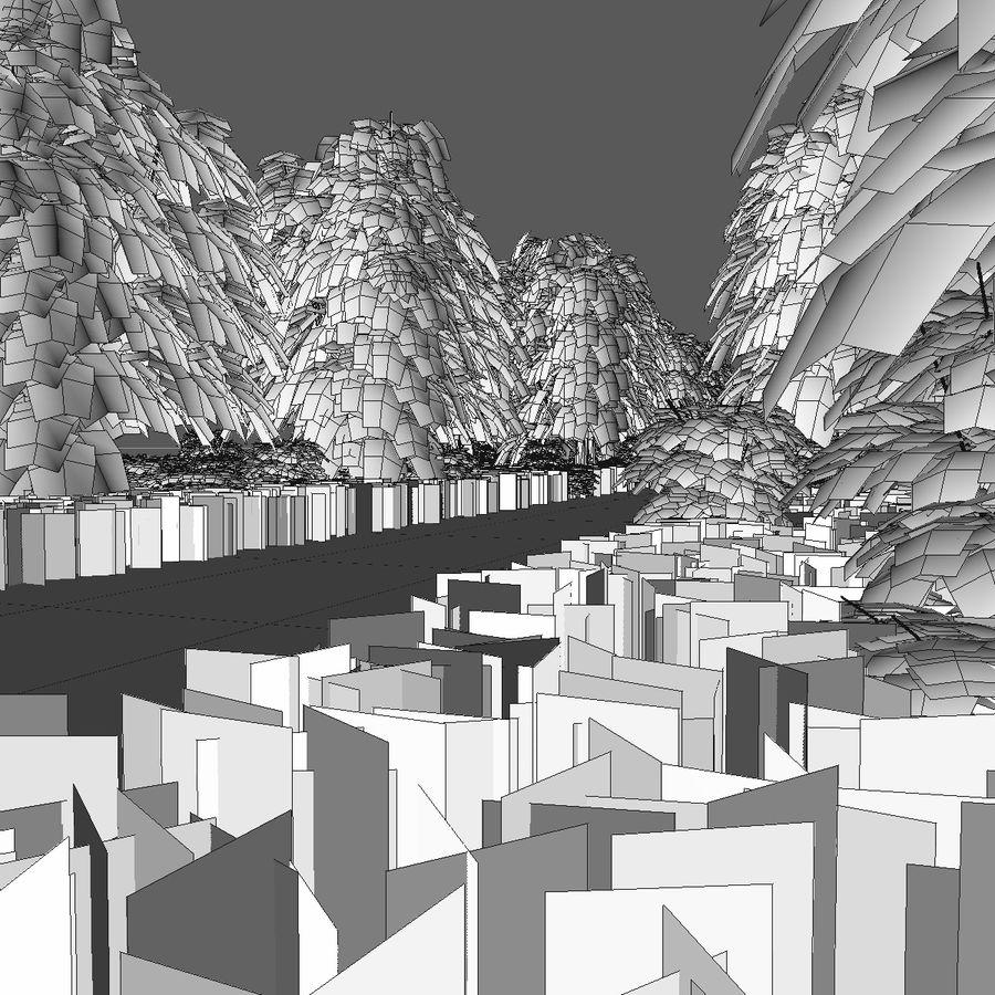 Skogsväg 2 royalty-free 3d model - Preview no. 13