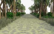 Percorso tropicale 1 scena 3d model