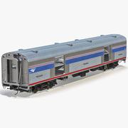 Railroad Amtrak Bagage Car 3D Model 3d model