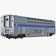 Railroad Double Deck Lounge Car Amtrak 3d model