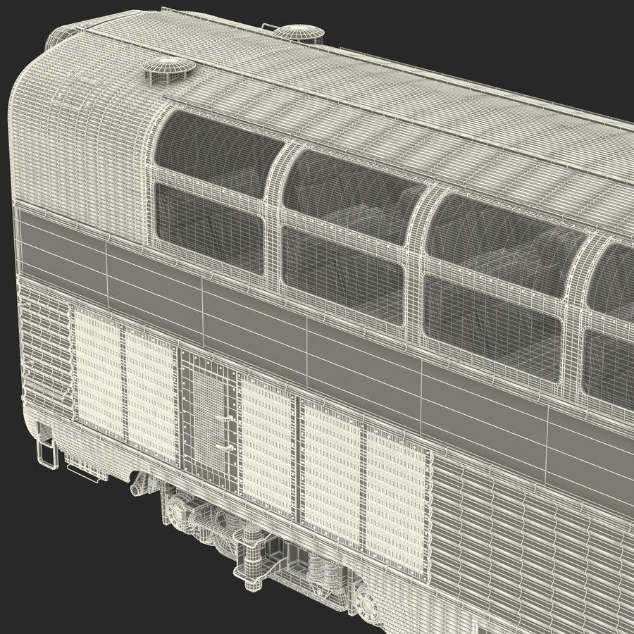 Railroad Double Deck Lounge Car 3D Model royalty-free 3d model - Preview no. 35