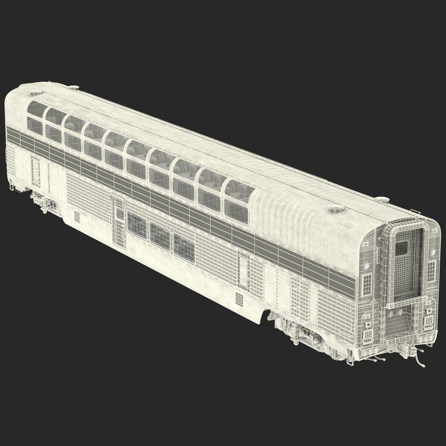 Railroad Double Deck Lounge Car 3D Model royalty-free 3d model - Preview no. 27