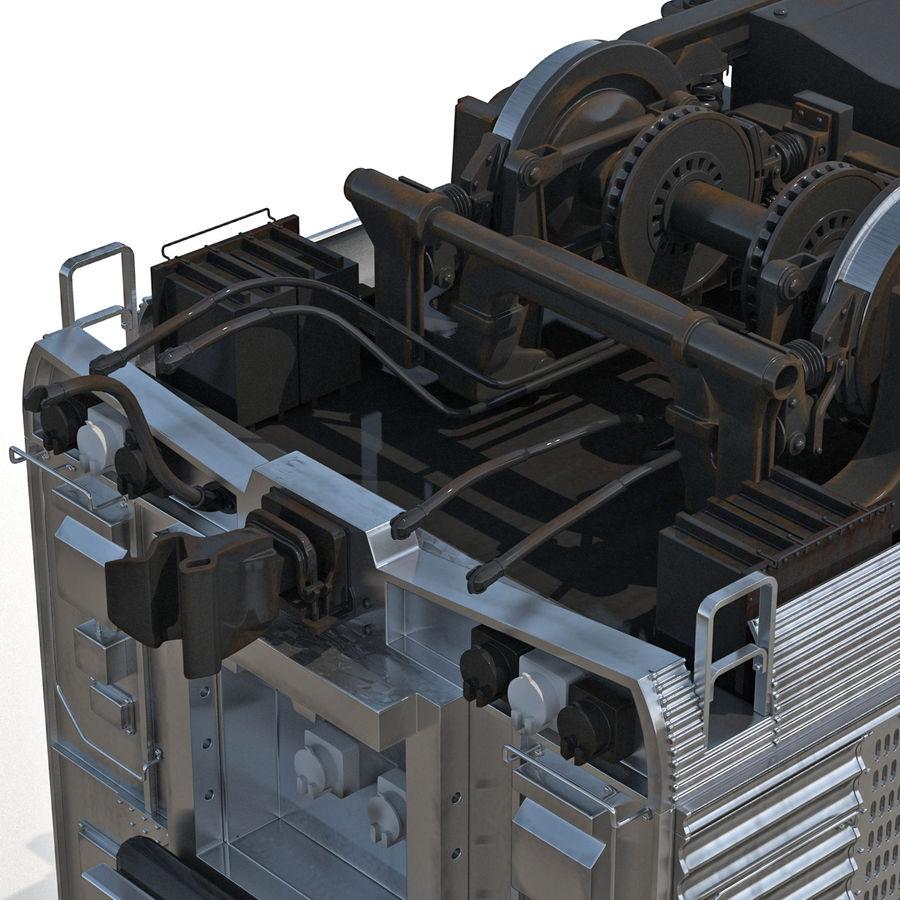 Railroad Double Deck Lounge Car 3D Model royalty-free 3d model - Preview no. 17