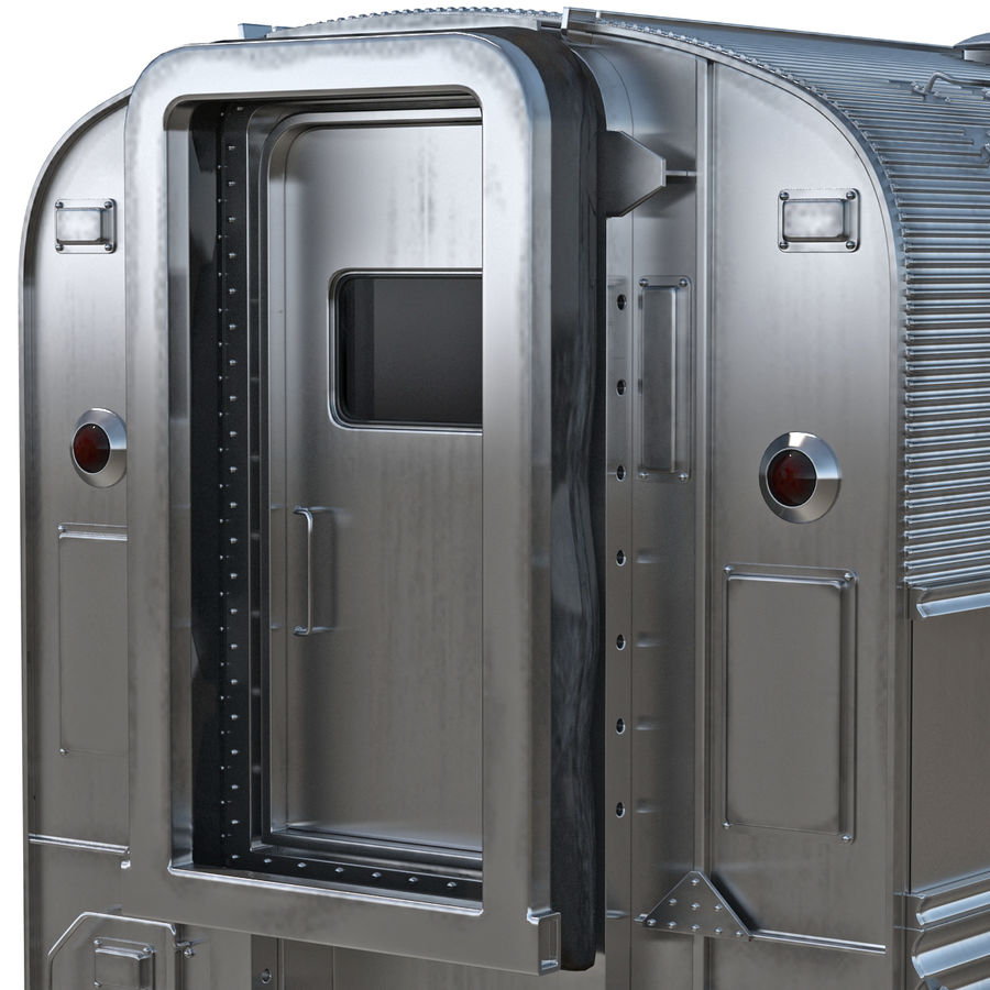 Railroad Double Deck Lounge Car 3D Model royalty-free 3d model - Preview no. 10
