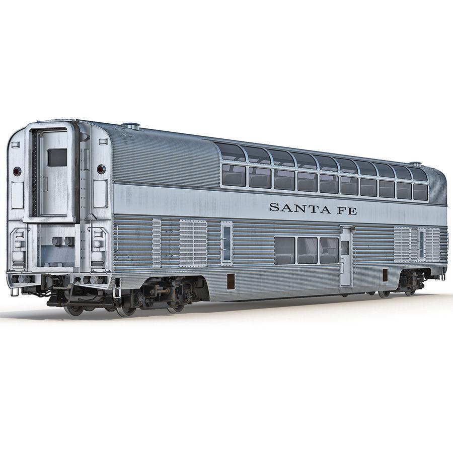 Railroad Double Deck Lounge Car 3D Model royalty-free 3d model - Preview no. 3
