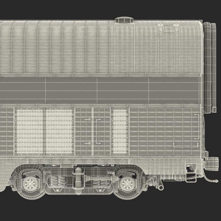 Railroad Double Deck Lounge Car 3D Model royalty-free 3d model - Preview no. 34