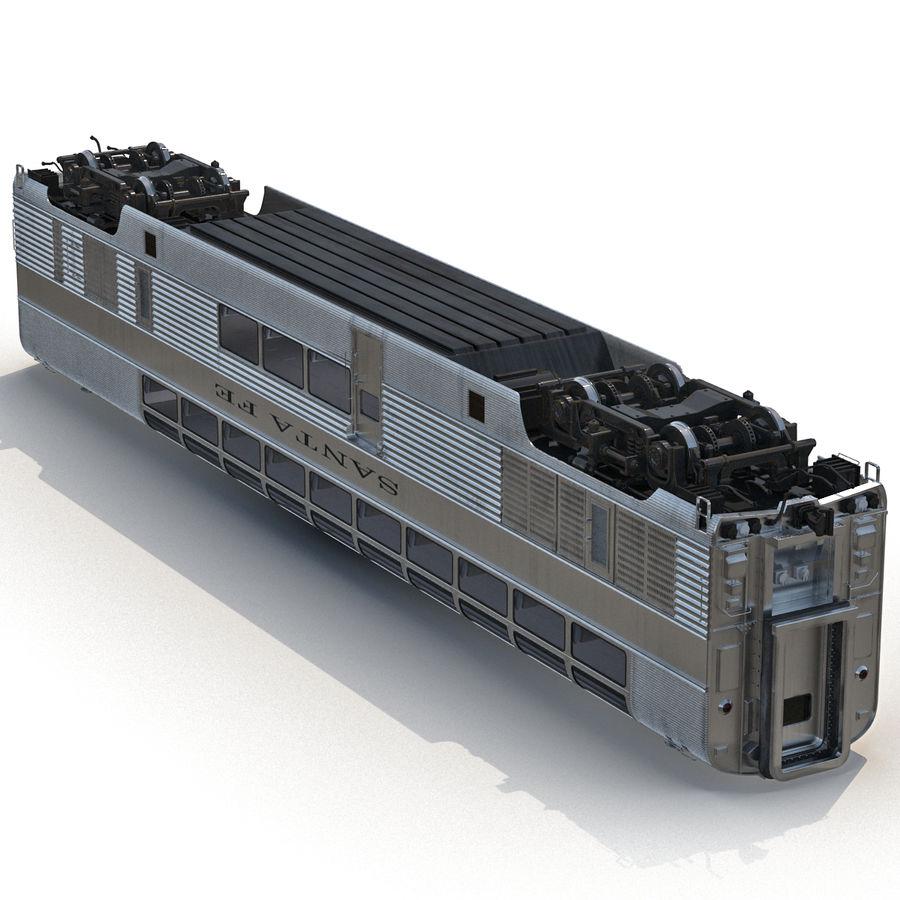 Railroad Double Deck Lounge Car 3D Model royalty-free 3d model - Preview no. 16