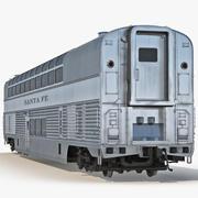 Railroad Double Deck Lounge Car 3D Model 3d model