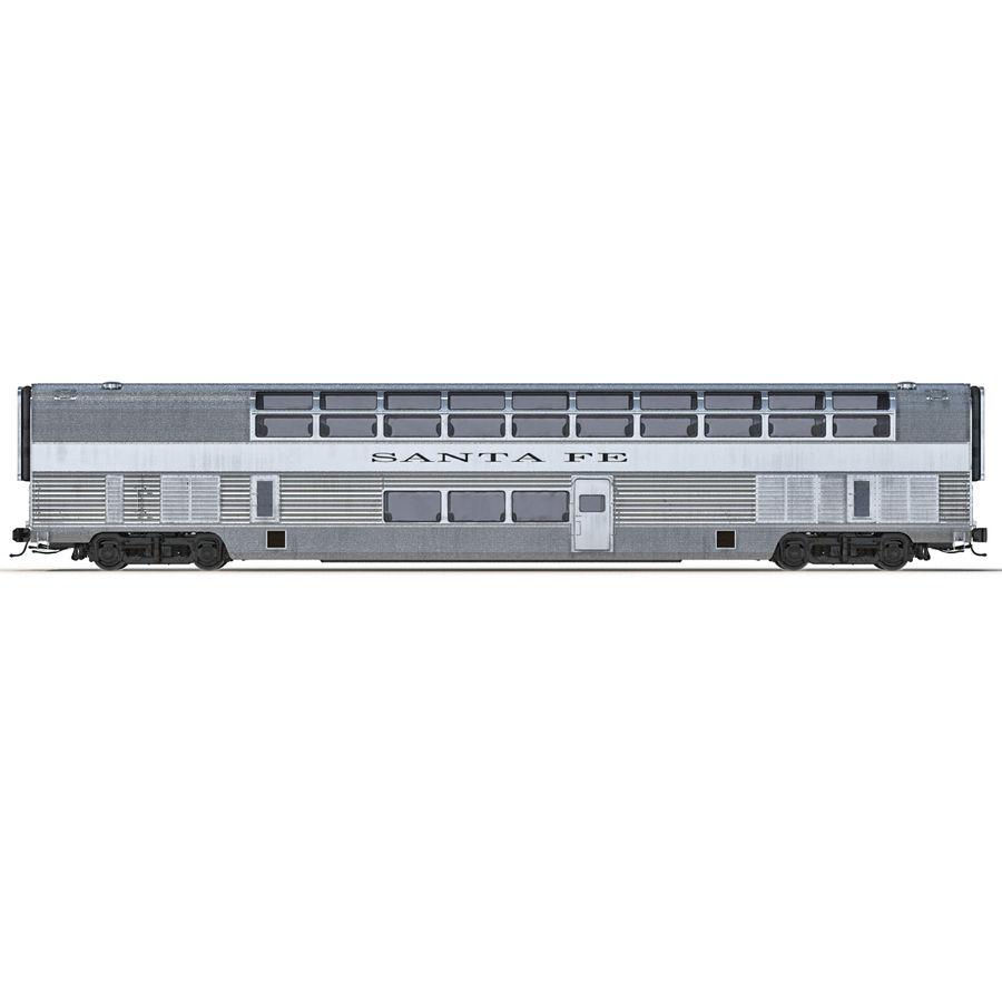 Railroad Double Deck Lounge Car 3D Model royalty-free 3d model - Preview no. 5