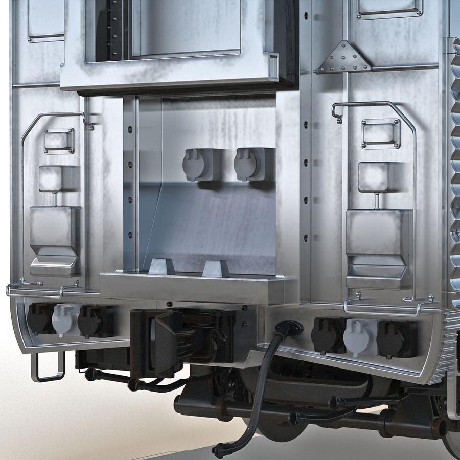 Railroad Double Deck Lounge Car 3D Model royalty-free 3d model - Preview no. 9