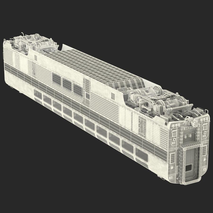 Railroad Double Deck Lounge Car 3D Model royalty-free 3d model - Preview no. 31