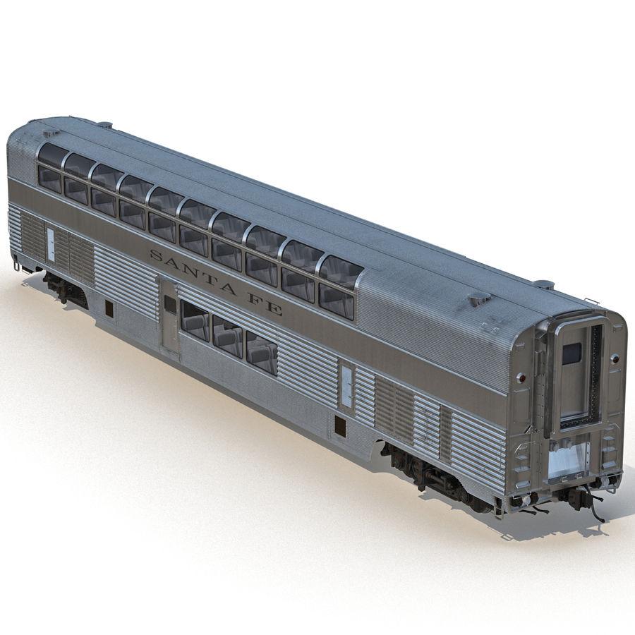 Railroad Double Deck Lounge Car 3D Model royalty-free 3d model - Preview no. 7