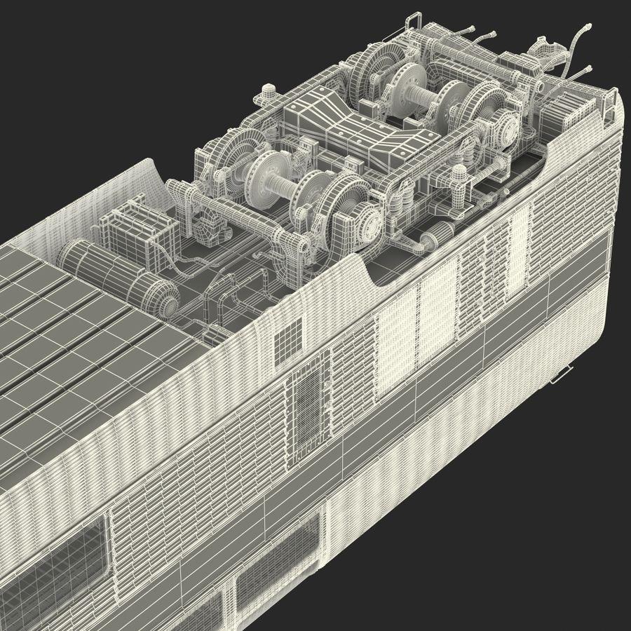 Railroad Double Deck Lounge Car 3D Model royalty-free 3d model - Preview no. 36