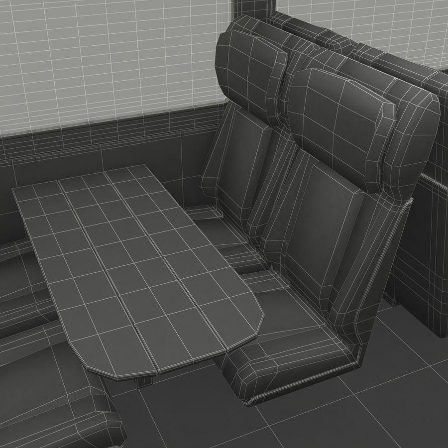 Railroad Double Deck Lounge Car 3D Model royalty-free 3d model - Preview no. 51