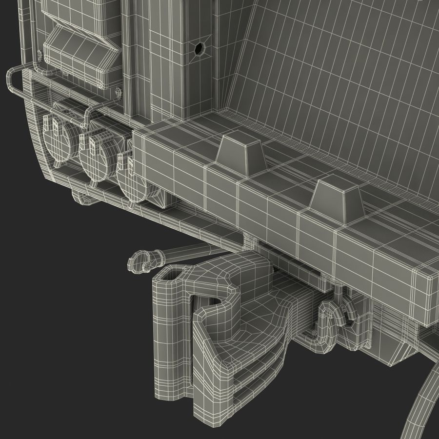Railroad Double Deck Lounge Car 3D Model royalty-free 3d model - Preview no. 48