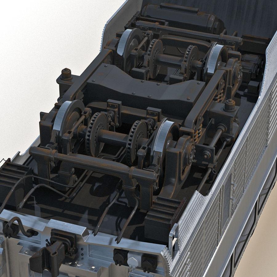 Railroad Double Deck Lounge Car 3D Model royalty-free 3d model - Preview no. 18