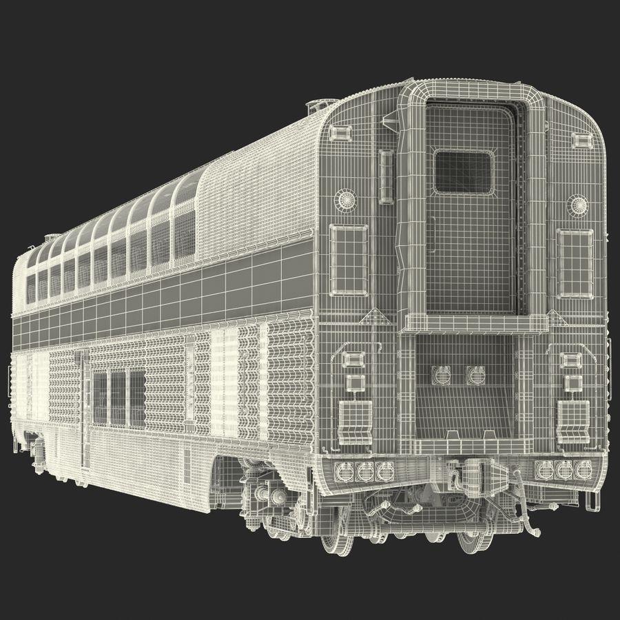 Railroad Double Deck Lounge Car 3D Model royalty-free 3d model - Preview no. 26