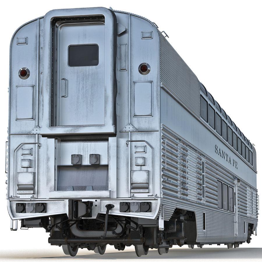 Railroad Double Deck Lounge Car 3D Model royalty-free 3d model - Preview no. 4