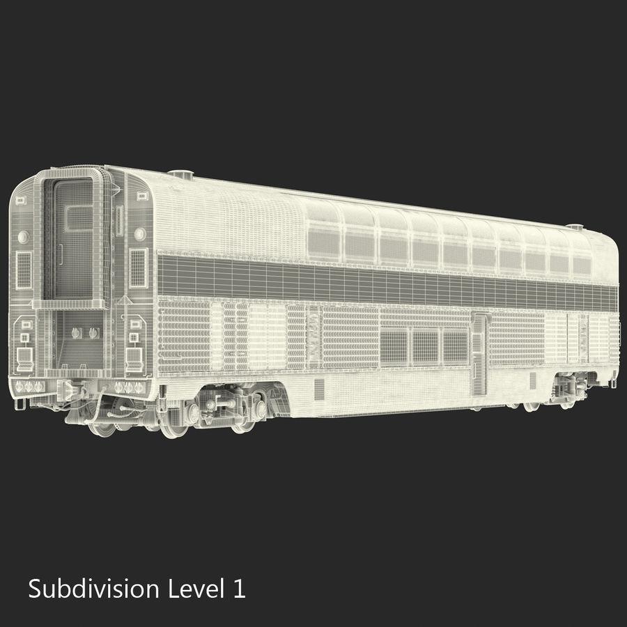 Railroad Double Deck Lounge Car 3D Model royalty-free 3d model - Preview no. 21