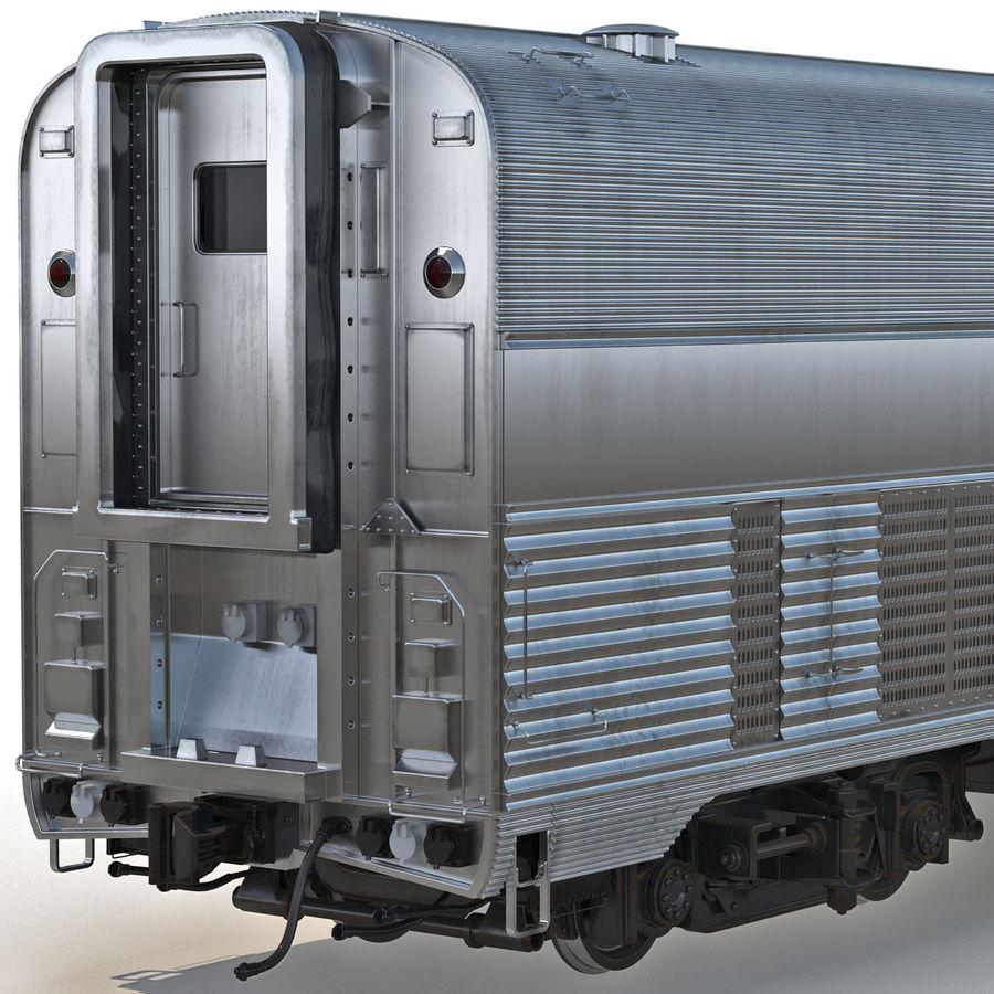 Railroad Double Deck Lounge Car 3D Model royalty-free 3d model - Preview no. 8