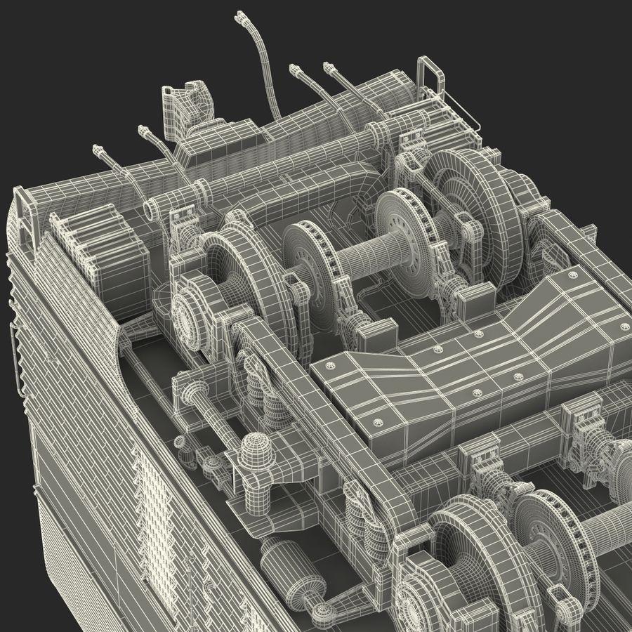 Railroad Double Deck Lounge Car 3D Model royalty-free 3d model - Preview no. 44