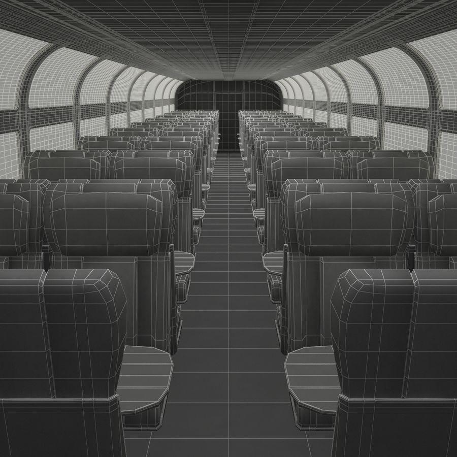 Railroad Double Deck Lounge Car 3D Model royalty-free 3d model - Preview no. 50