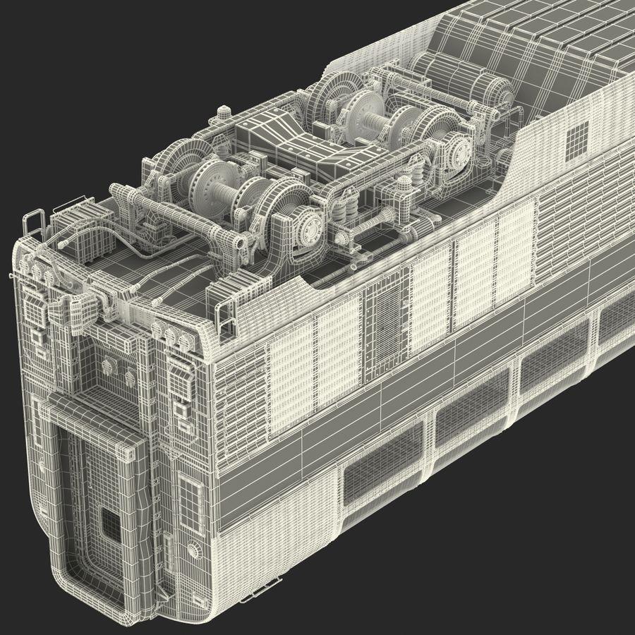Railroad Double Deck Lounge Car 3D Model royalty-free 3d model - Preview no. 37