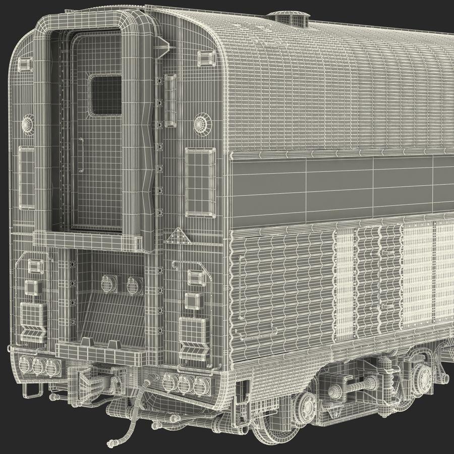 Railroad Double Deck Lounge Car 3D Model royalty-free 3d model - Preview no. 32