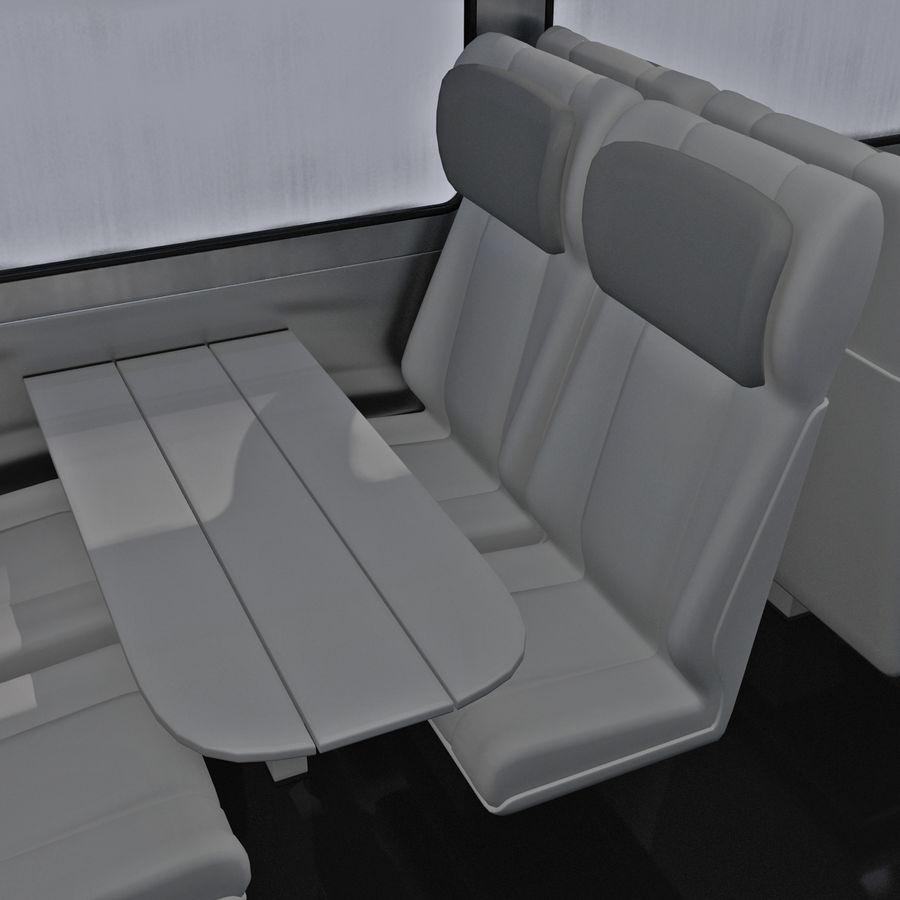 Railroad Double Deck Lounge Car 3D Model royalty-free 3d model - Preview no. 15