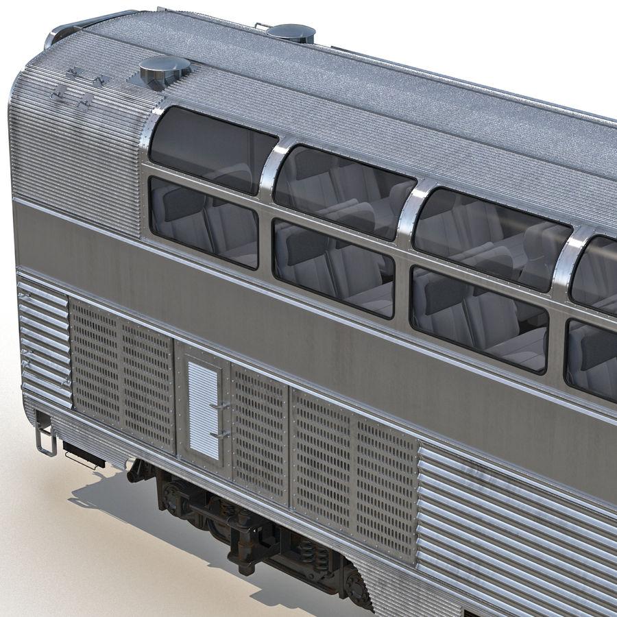 Railroad Double Deck Lounge Car 3D Model royalty-free 3d model - Preview no. 12