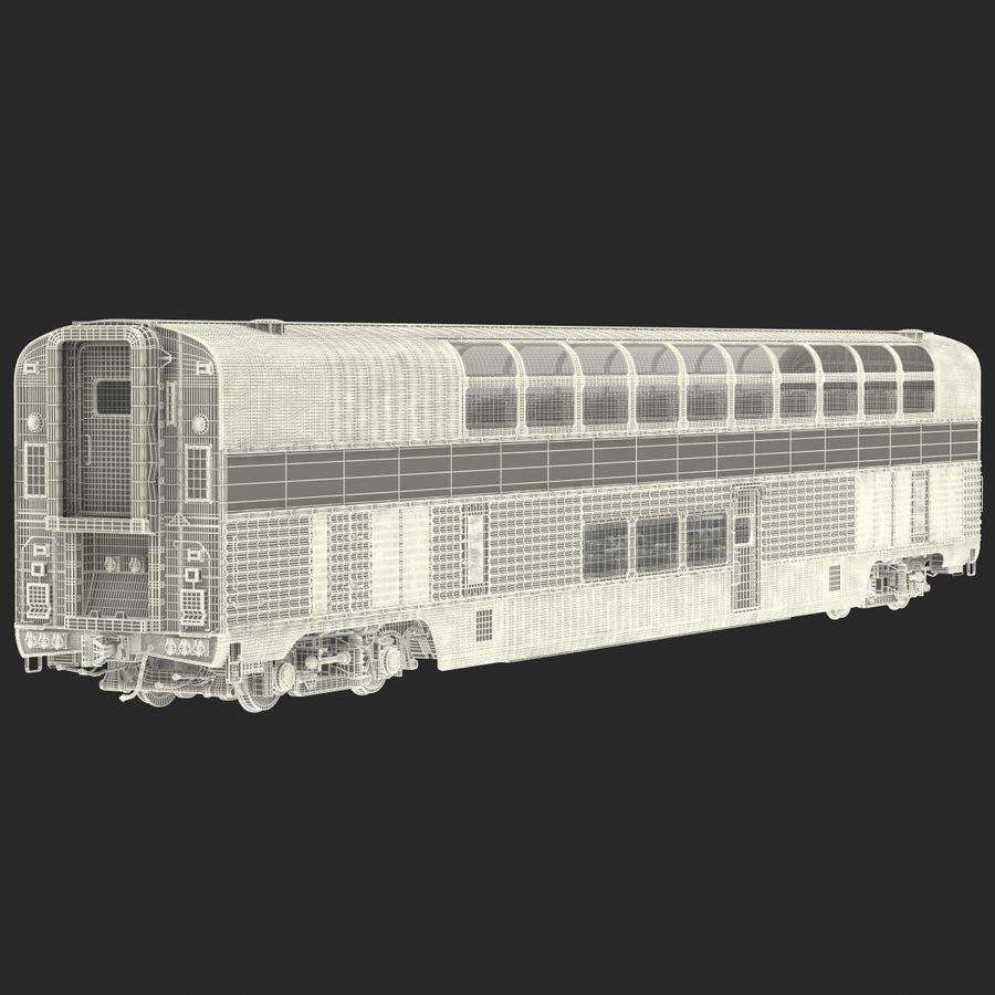 Railroad Double Deck Lounge Car 3D Model royalty-free 3d model - Preview no. 28