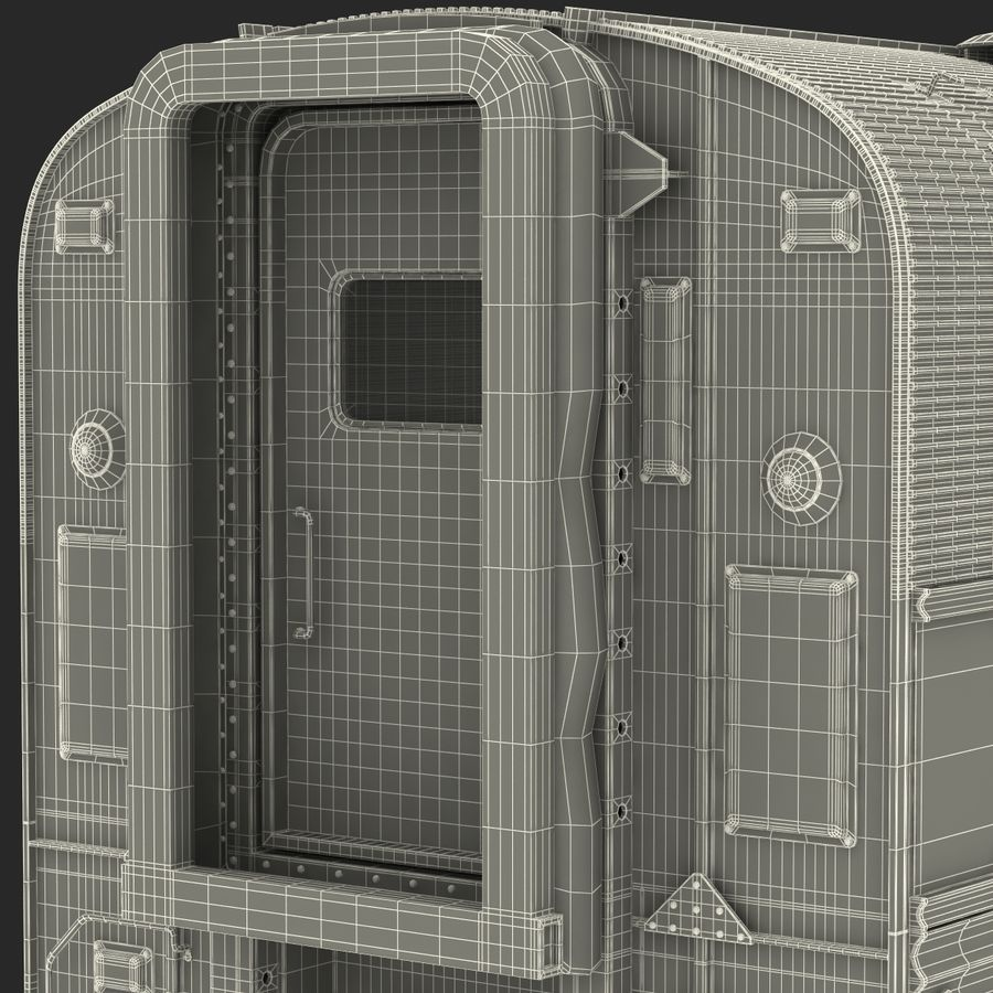Railroad Double Deck Lounge Car 3D Model royalty-free 3d model - Preview no. 46