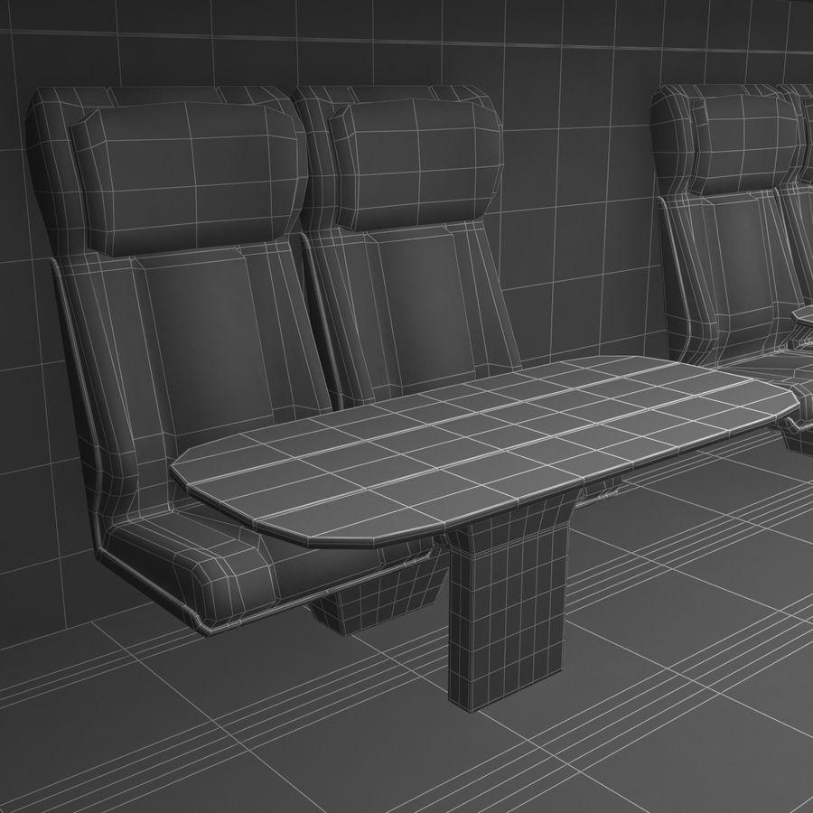 Railroad Double Deck Lounge Car 3D Model royalty-free 3d model - Preview no. 52