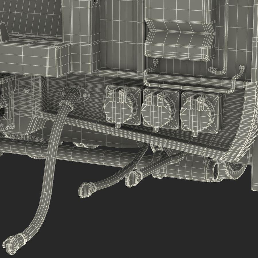 Railroad Double Deck Lounge Car 3D Model royalty-free 3d model - Preview no. 47