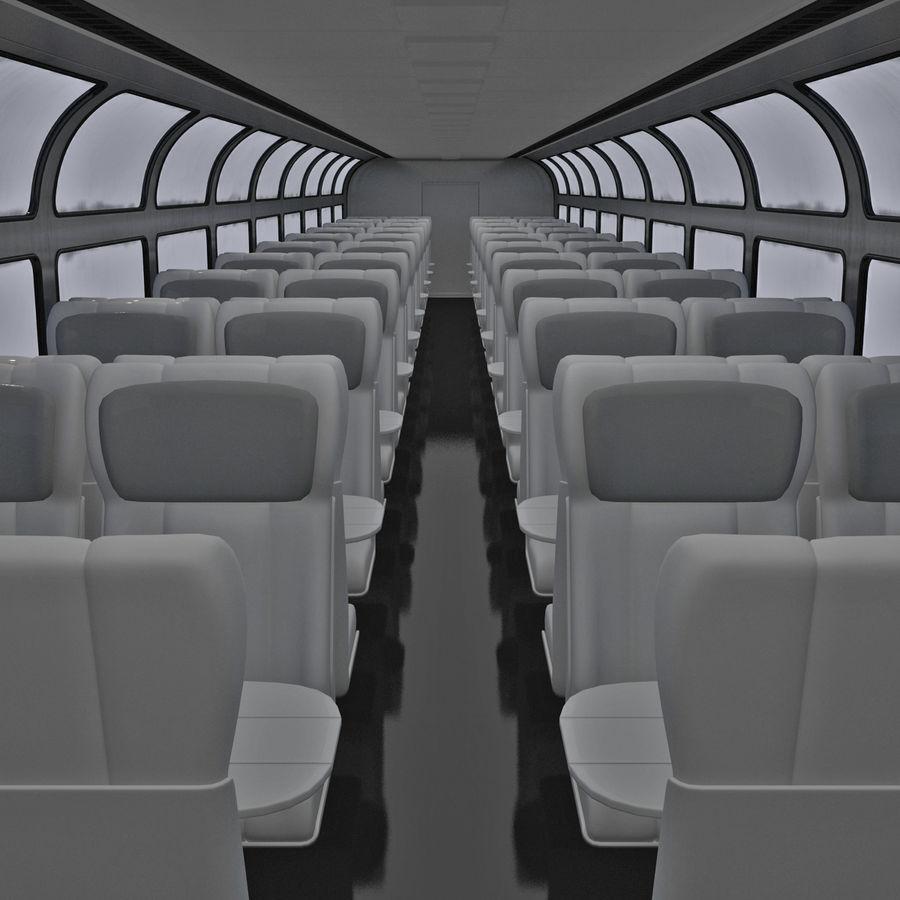 Railroad Double Deck Lounge Car 3D Model royalty-free 3d model - Preview no. 13