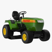 Lawn Tractor Snapper Rigged 3d model