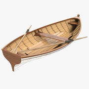 Rowing Boat 3 3d model
