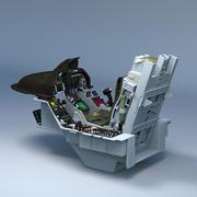 F16 cockpit 3d model