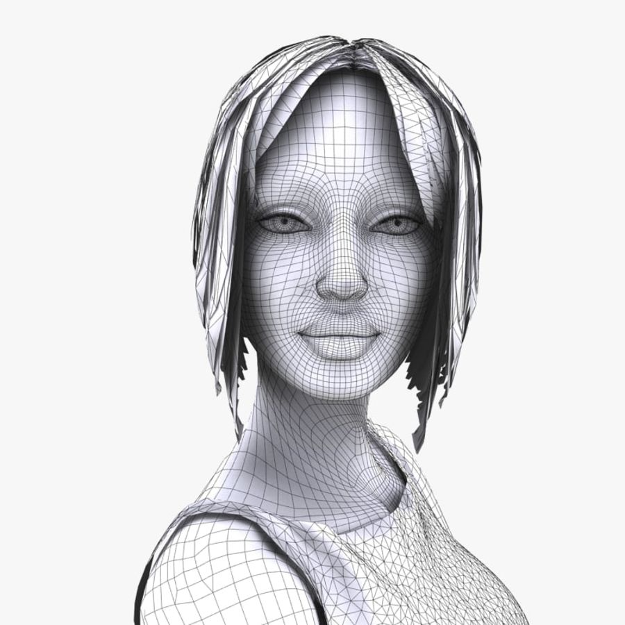 Manichino donna royalty-free 3d model - Preview no. 15