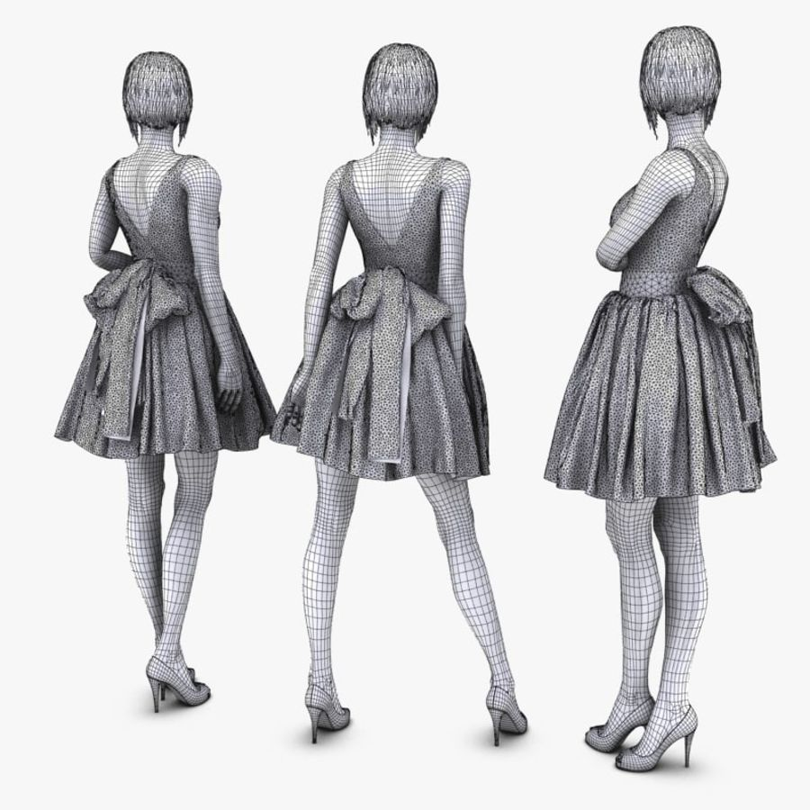 Manichino donna royalty-free 3d model - Preview no. 13