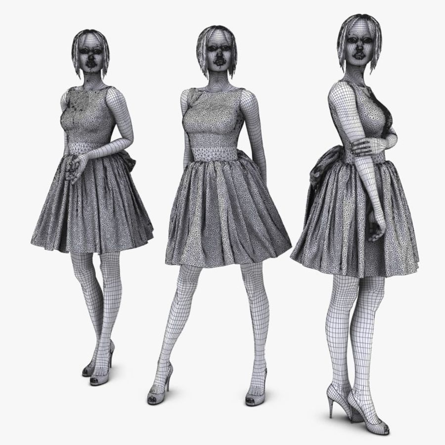 Manichino donna royalty-free 3d model - Preview no. 12