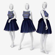 Woman Mannequin Dress 3d model