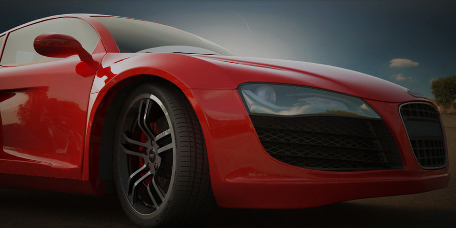 Audi R8 V10 royalty-free 3d model - Preview no. 2