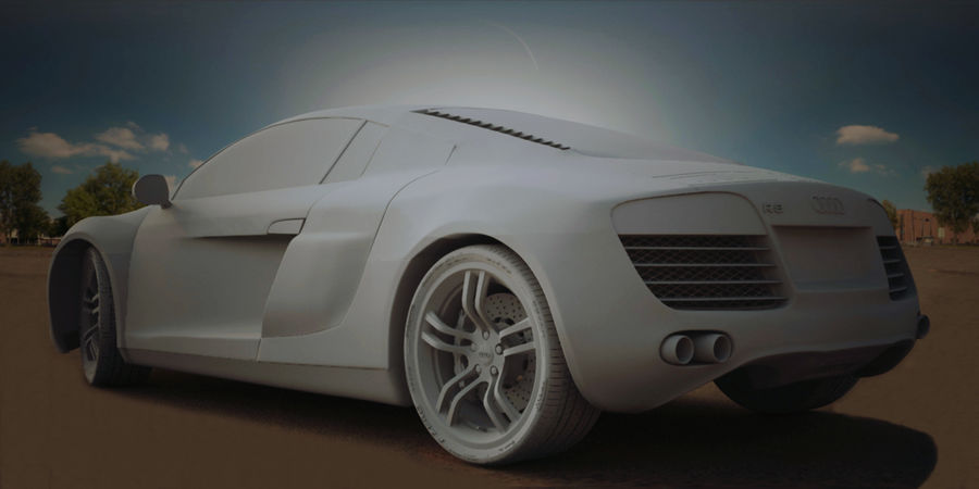 Audi R8 V10 royalty-free 3d model - Preview no. 12