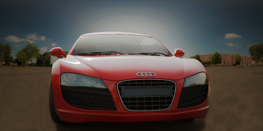 Audi R8 V10 royalty-free 3d model - Preview no. 4